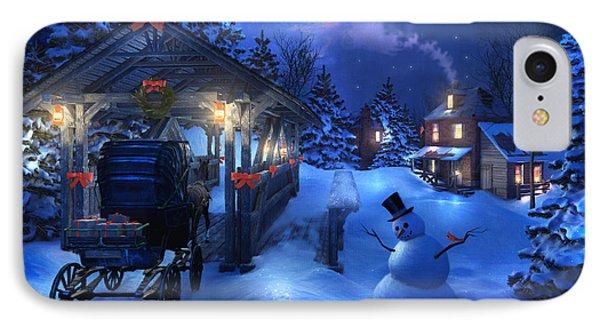 Snowman Crossing IPhone Case