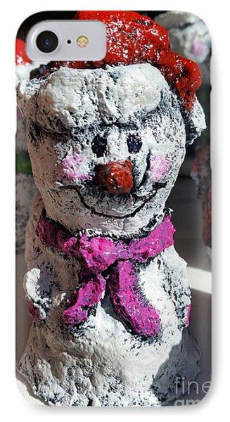 Snowman Pink IPhone Case
