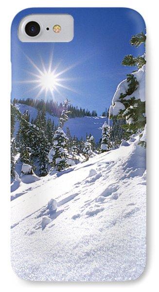 Snowscape With Bright Sun IPhone Case