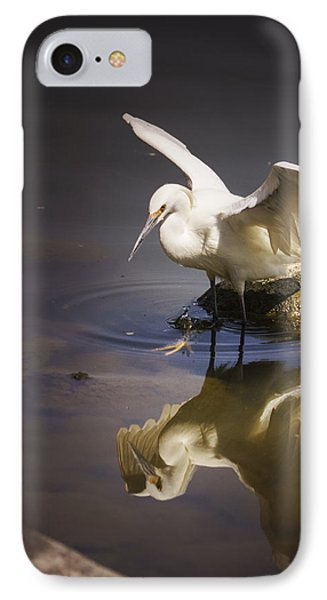 Snowy Egret Reflection IPhone Case