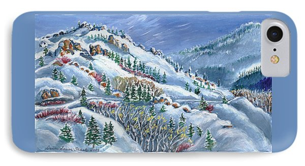 Snowy Mountain Road IPhone Case