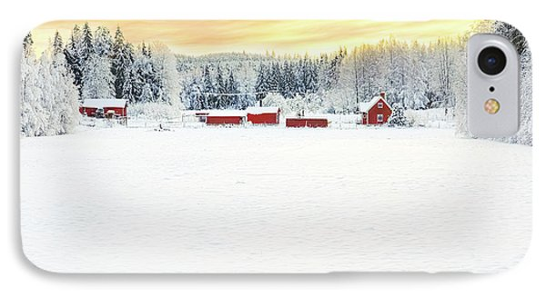 Snowy Ranch At Sunset IPhone Case