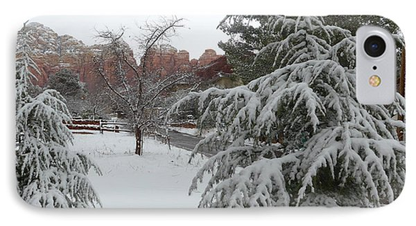 Snowy Sedona Red Rocks IPhone Case