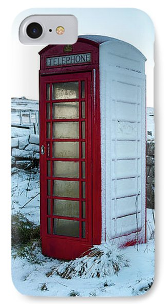 Snowy Telephone Box IPhone Case