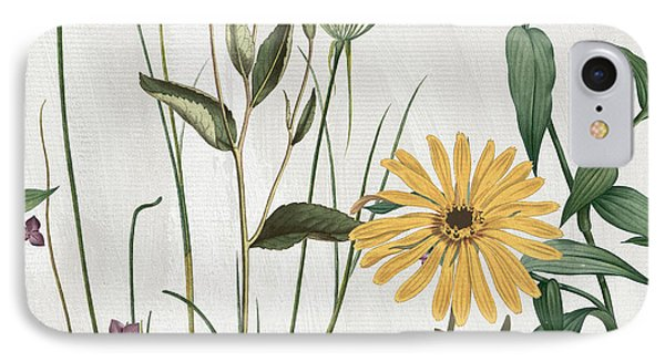 Softly Crocus And Daisy IPhone Case