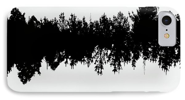 Sound Waves Made Of Trees Reflected IPhone Case
