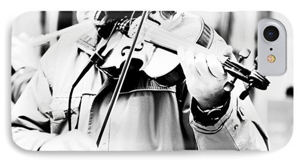 Violin iPhone 8 Case - Sounds Of A Stranger by Gabriela Insuratelu