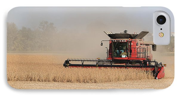 Soybean Harvest In Fremont County Iowa IPhone Case