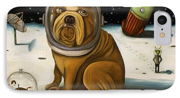 Dog iPhone 8 Case - Space Crash by Leah Saulnier The Painting Maniac