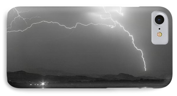 Spark In The Night In Black And White IPhone Case