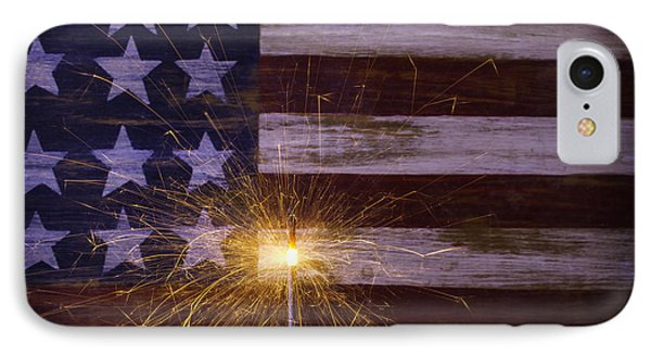 Sparkler With American Flag IPhone Case