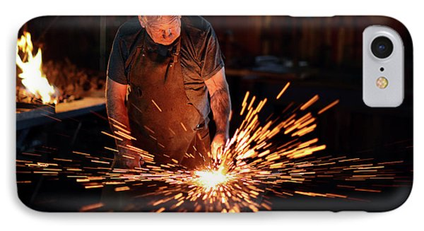 Sparks When Blacksmith Hit Hot Iron IPhone Case