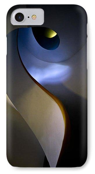 Spiral Concrete Modern Staircase IPhone Case