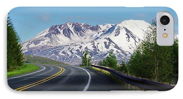 Spirit Lake Highway To Mt. St. Helens IPhone Case