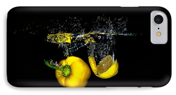 Splash Of  Pepper And Lemon IPhone Case