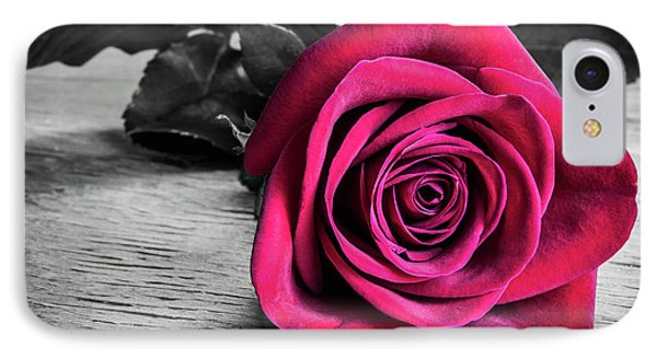 Splash Of Red Rose IPhone Case