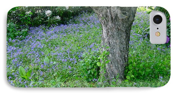 Blooming Vinca And Rhododendron IPhone Case