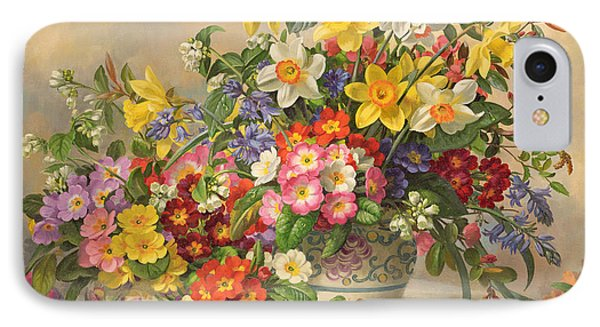 Spring Flowers And Poole Pottery IPhone Case