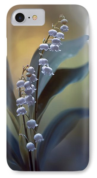 Lily iPhone 8 Case - White Pearls by Magda  Bognar