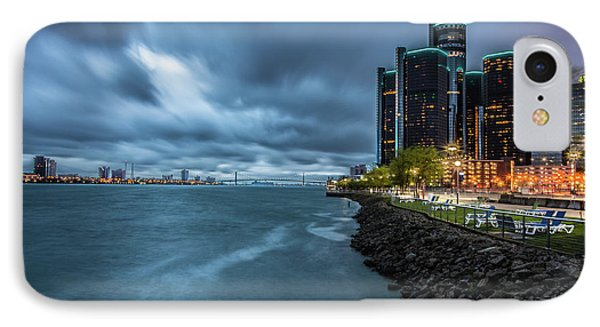 Storm Season In Detroit  IPhone Case