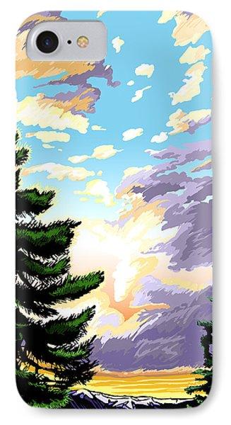 Spring Sunrise 01 IPhone Case