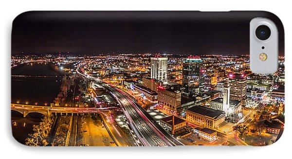 Springfield Massachusetts Night Long Exposure Panorama IPhone Case