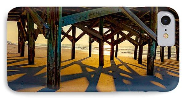 Springmaid Pier At Sunrise IPhone Case