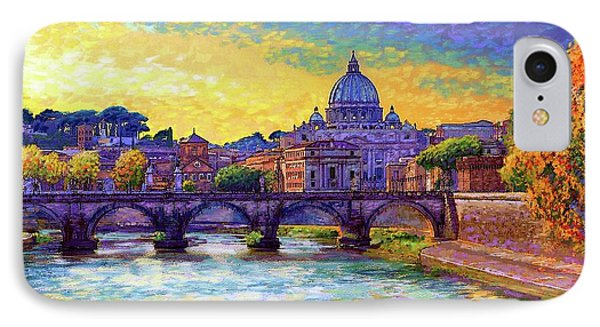 St Angelo Bridge Ponte St Angelo Rome IPhone Case
