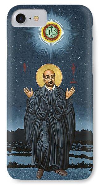 St. Ignatius In Prayer Beneath The Stars 137 IPhone Case