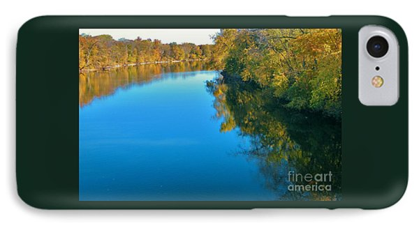 St. Joseph River View In Autumn     Indiana IPhone Case