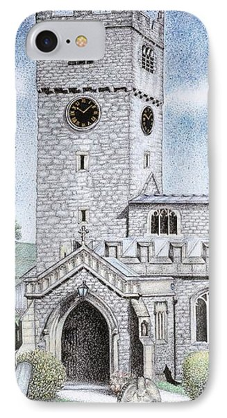 St Michael And All Angels Church Clock  Beetham Cumbria  IPhone Case