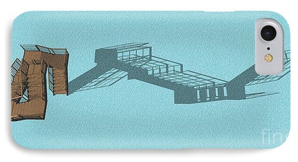 Stair 44 Long Shadow Architect Architecture IPhone Case