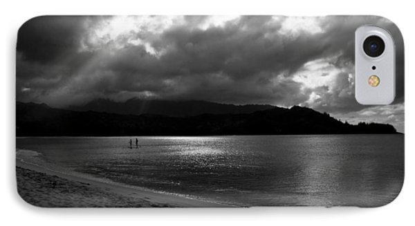 Stand Up Paddlers In Stormy Skies IPhone Case
