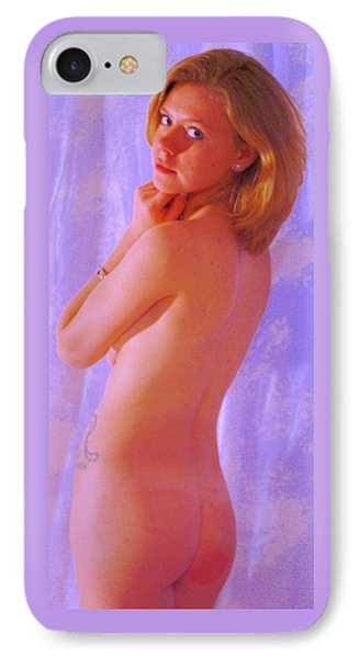 Standing Nude Blue IPhone Case