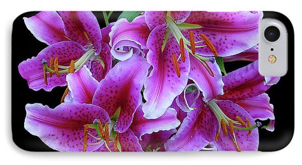 Stargazer Lily Cutout IPhone Case