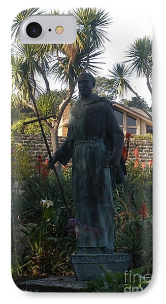Statue At Mission Carmel IPhone Case