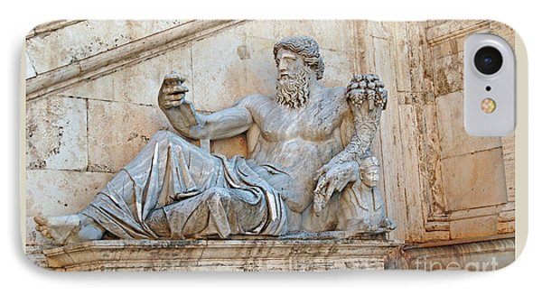 Statue Capitoline Hill Of Rome Italy IPhone Case