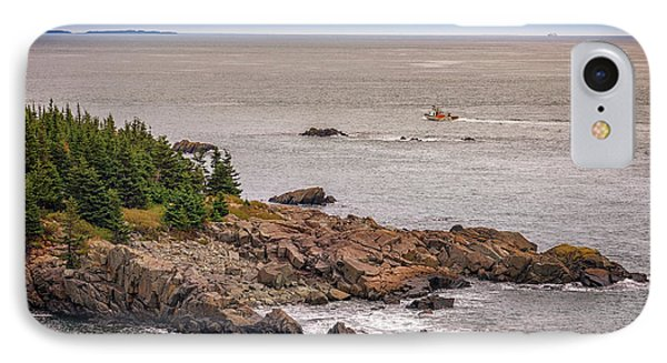 Steaming Through Quoddy Narrows IPhone Case