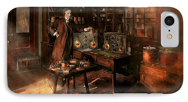 Steampunk - The Time Traveler 1920 IPhone Case
