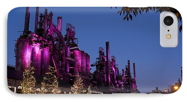 Steel Stacks At Night IPhone Case