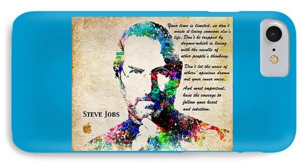 Tribute iPhone 8 Case - Steve Jobs Portrait by Patricia Lintner