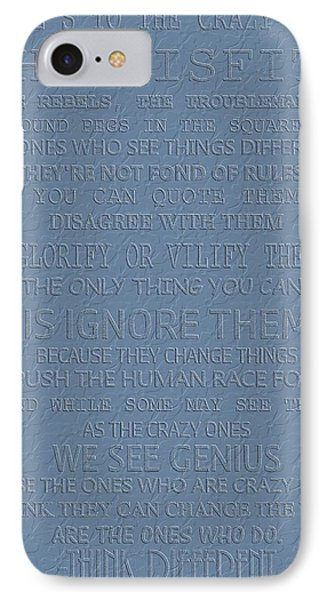 Steve Jobs Think Different IPhone Case