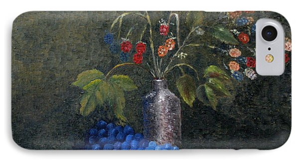 Still Life With Blue Fruit IPhone Case