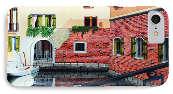 Still, On The Venice Canal, Prints From The Original Oil Painting IPhone Case