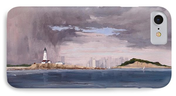 Storm Over Boston IPhone Case