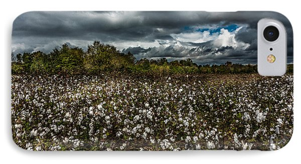 Stormy Cotton Field IPhone Case