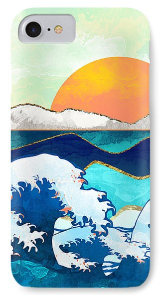 Landscapes iPhone 8 Case - Stormy Waters by Spacefrog Designs