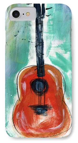 Music iPhone 8 Case - Storyteller's Guitar by Linda Woods