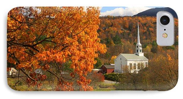 Stowe Vermont In Autumn IPhone Case