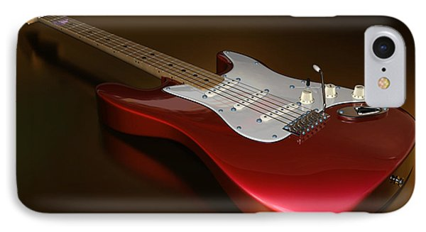 Stratocaster On A Golden Floor IPhone Case